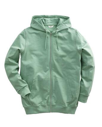 Cotton Zip-through Hooded Top
