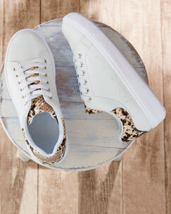 Lace-up Print Detail Trainers