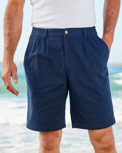 Ink Pleat Front Comfort Shorts