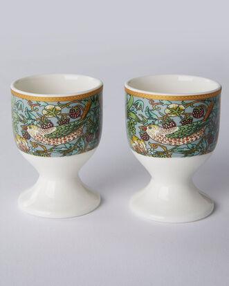 William Morris Strawberry Thief Set of 2 Egg Cups