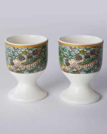 William Morris Strawberry Thief Set of 2 Egg Cups