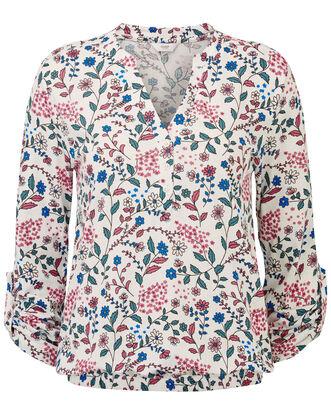 Floral Jersey Blouse