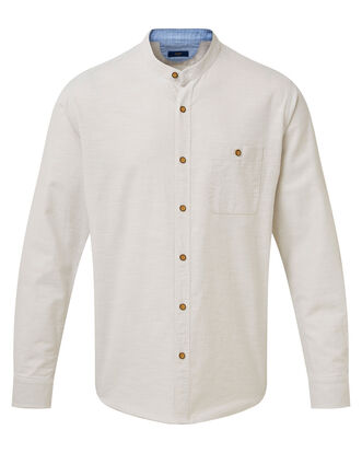 Long Sleeve Linen Look Shirt