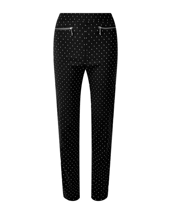 Super Stretchy Jacquard Pull-on Trousers