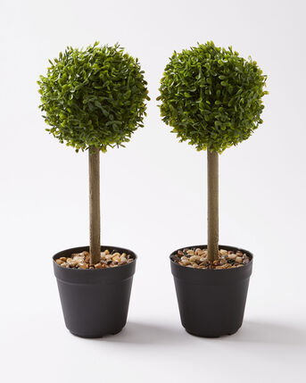 Pack of 2 Faux Topairy Trees (40cm)