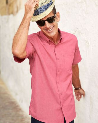 Pale Coral Short Sleeve Soft Touch Shirt
