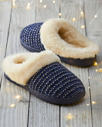 Textured Mule Slippers