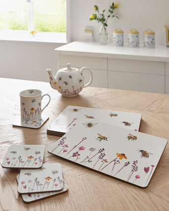 Busy Bee Pack of 4 Placemats and 4 Coasters
