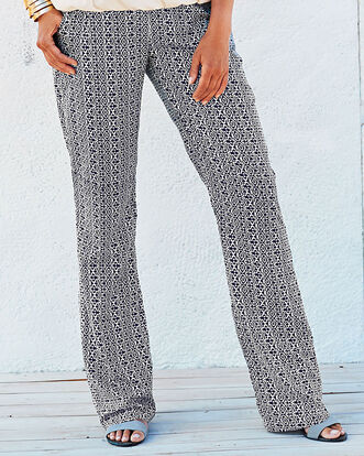 Print Easy Wear Trousers
