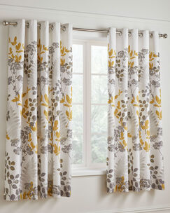Eden Eyelet Curtains 66x72""