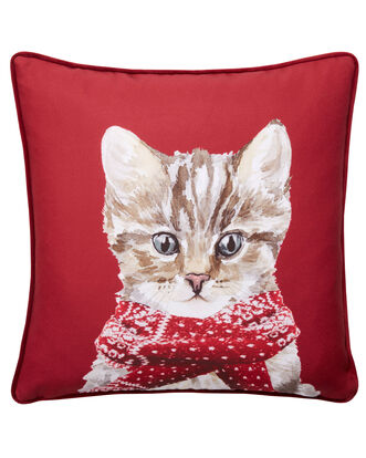 Cat With Scarf Cushion