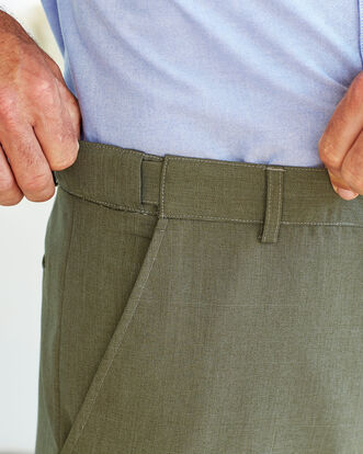 Flat Front Travel Trousers