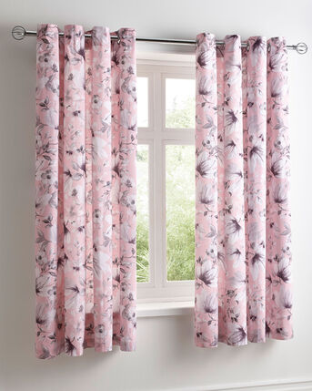 Eleanor Eyelet Curtains 66X72""