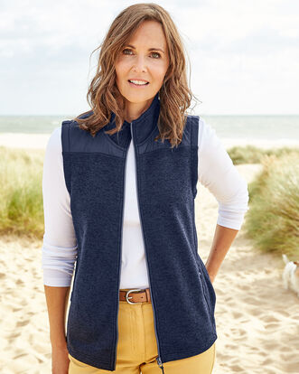 Farndale Knitted Fleece Gilet
