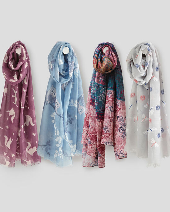 Floral Dragonfly Scarf