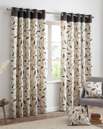 Trailing Leaf Eyelet Curtains