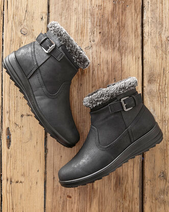 Flexisole Buckle Detail Snug Boots