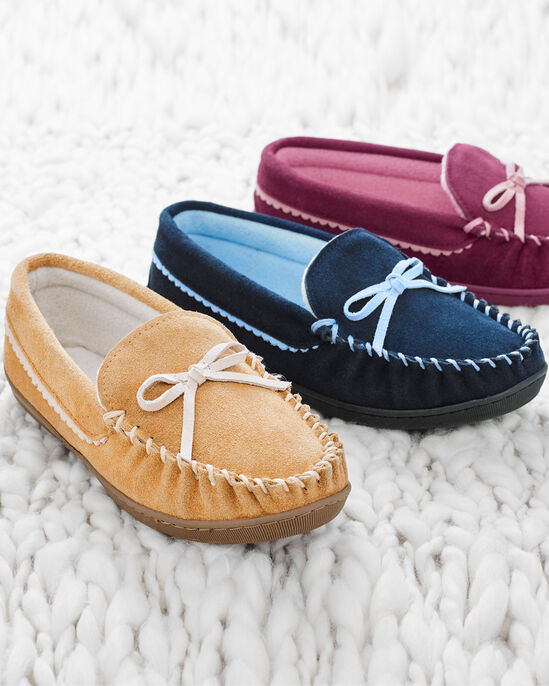 3f2c943668e9 Suede Moccasin Slippers at Cotton Traders