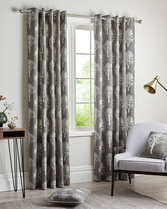 Woodland Eyelet Curtains 46X54""