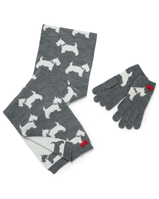 Animal Design Scarf and Glove Set