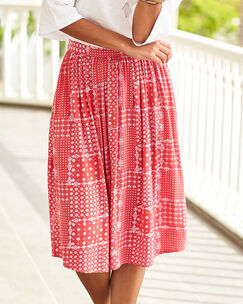 Patchwork Print Skirt