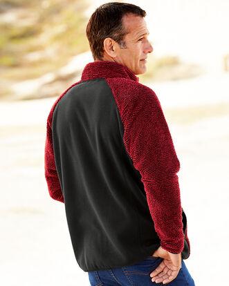 Stripe Fluffy Fleece Jacket