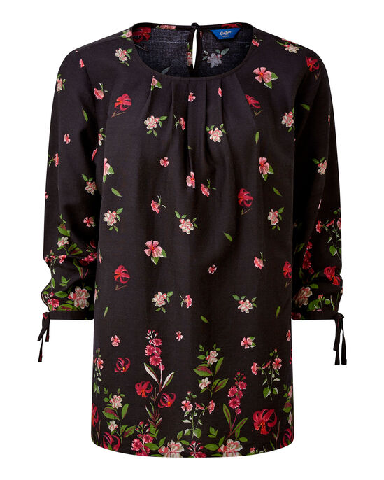 Floral Tie Sleeve Top