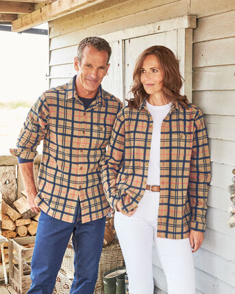 Recycled Microfleece Check Shirt