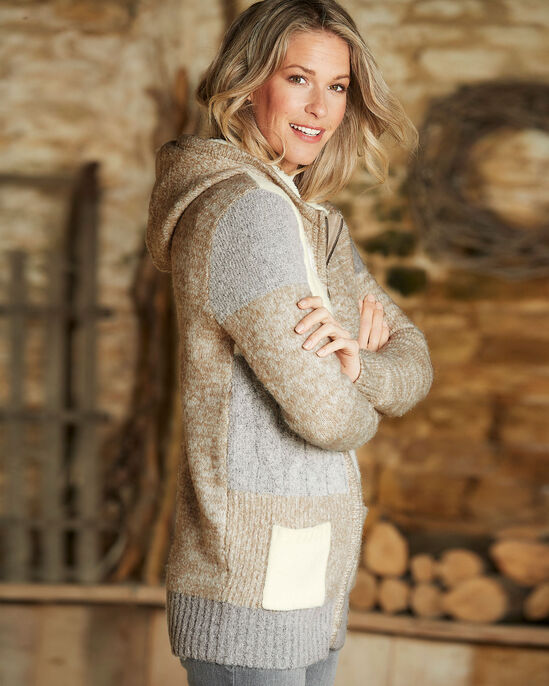 Hooded Patchwork Cardigan
