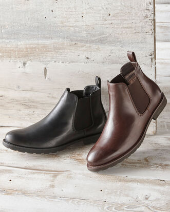 Check Lined Chelsea Boots