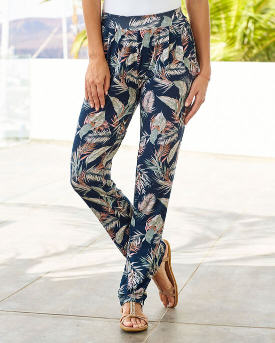 Print Jersey Trousers