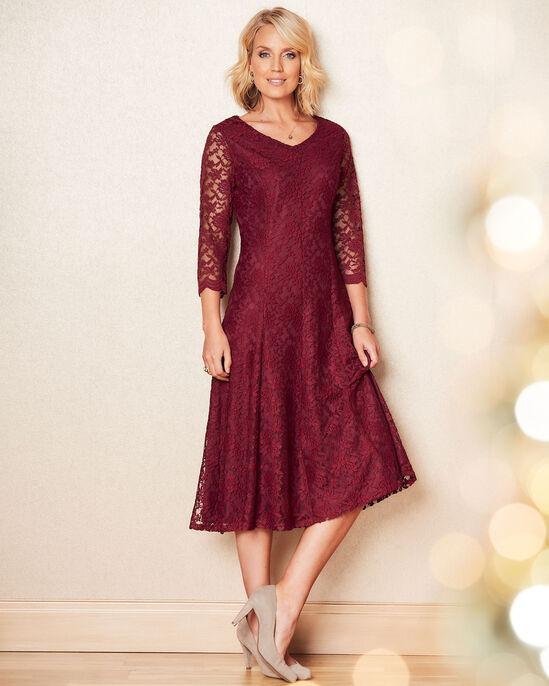 Stretch Lace Midi Dress