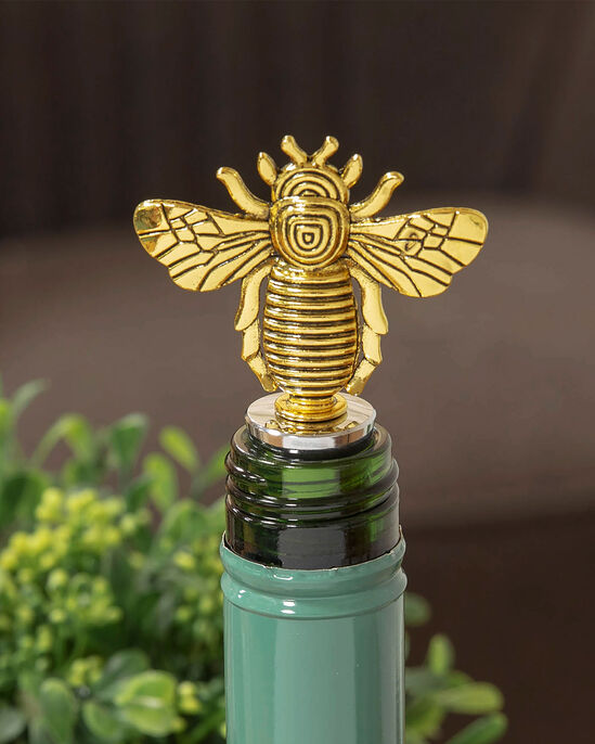 Bee Winged Bottle Opener and Bottle Stopper Set