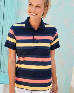 Organic Cotton Stripe Polo Shirt