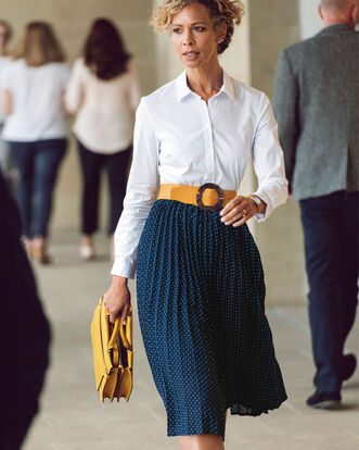 Swish Pleated Midi Skirt