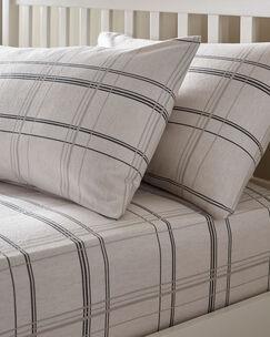 Harris Brushed Cotton Deep Fitted Sheet & Pillowcase Set