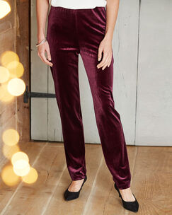 Velour Tapered Trousers