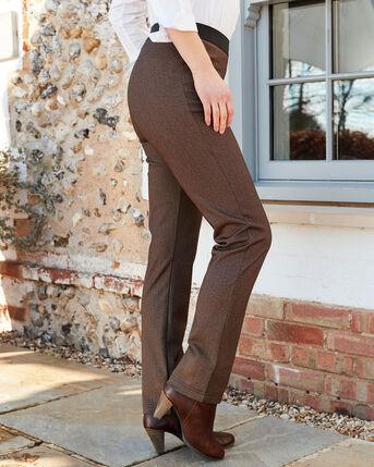 Flattering Elasticated Waist Jersey Slim Straight Leg Trouser
