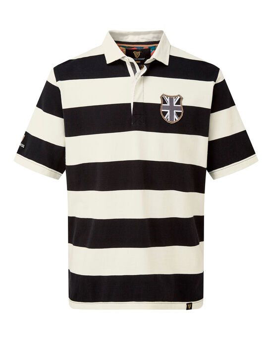 Guinness® Short Sleeve Stripe Rugby Shirt