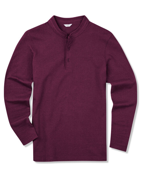 Organic Cotton Long Sleeve Grandad T-shirt