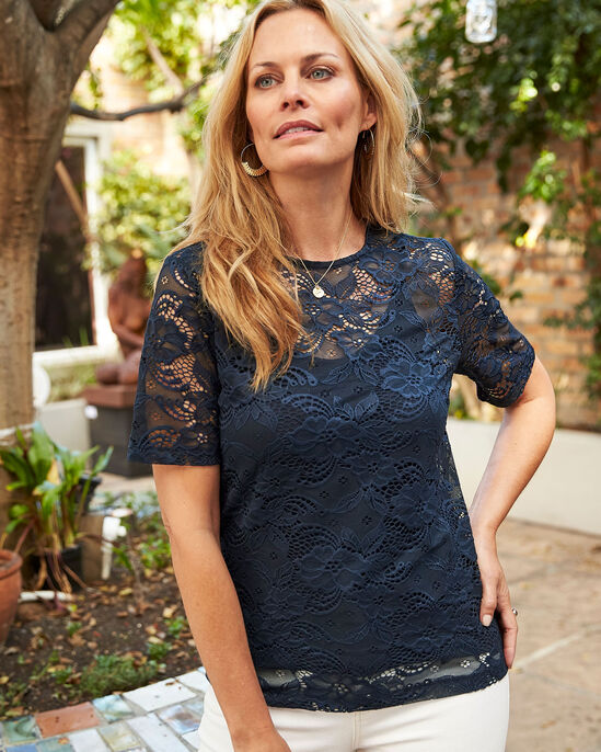Stretch Lace Top and Cami