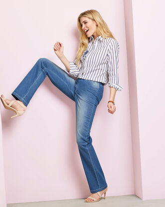 Pull-on Stretch Denim Trousers