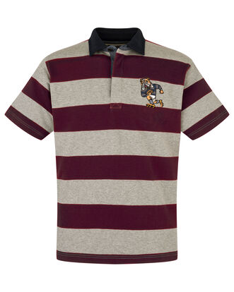 Short Sleeve Stripe Rugby Shirt