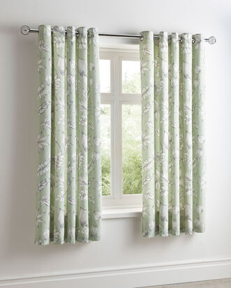 "Ashleigh Eyelet Curtains 66X72"""