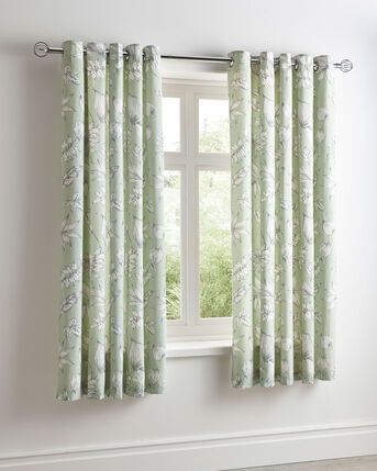 Ashleigh Eyelet Curtains 66X72""