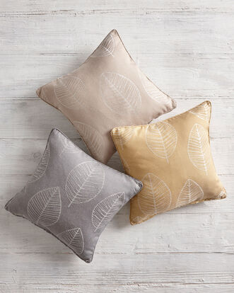 Leaf Jacquard Cushion