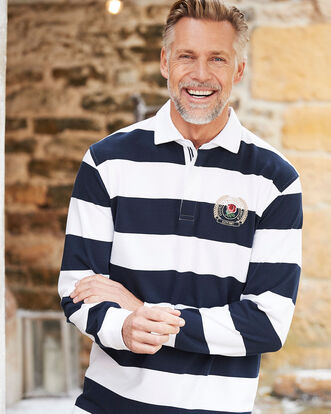Long Sleeve Classic England Stripe Rubgy Shirt
