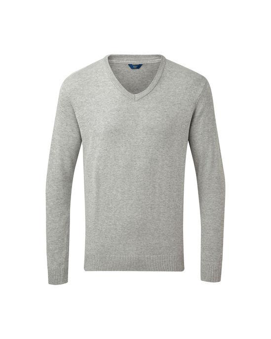 Cotton V-neck Jumper