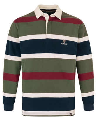 Guinness Long Sleeve Stripe Rugby Shirt
