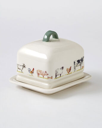 Country Farm Butter Dish